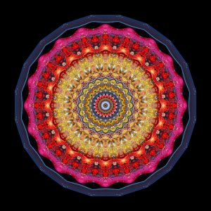 Mandala by Cleveland Ohio international artist Stephen Calhoun