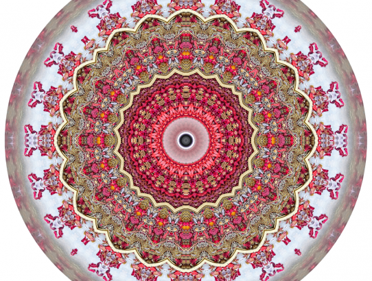 Red Mandalas #1 & #2