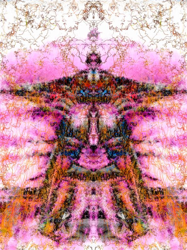 Desert Bliuesman - 2015 generative art - Stephen Calhoun