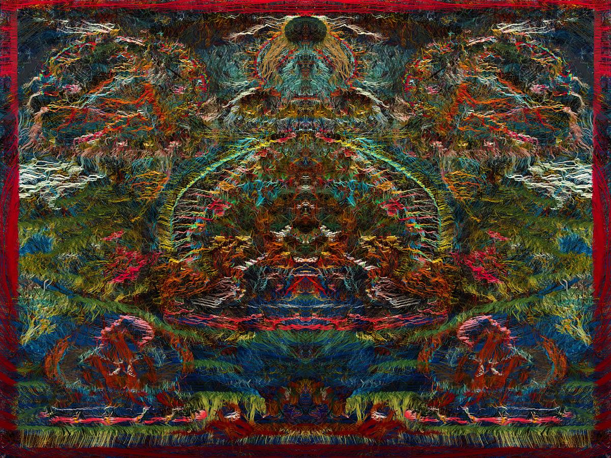 Sun Ra In heaven - Stephen Calhoun artist