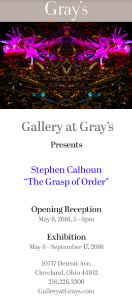 Stephen Calhoun one man exhibit